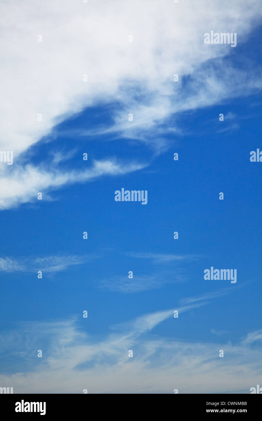 early morning sky background. Cloudscape - Stock Image