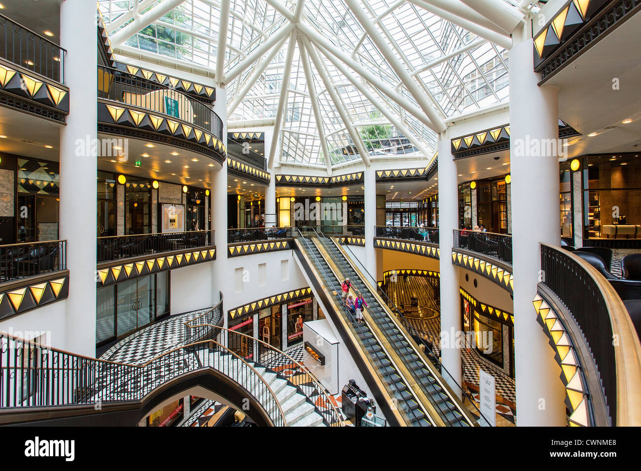 Europe, Germany, Berlin, Friedrichstrasse, the shopping Center Quartier 206 - Stock Image