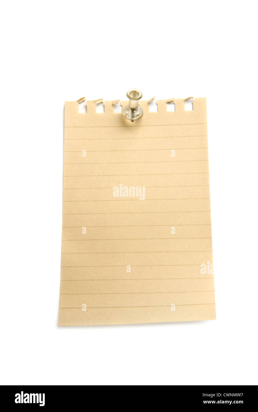 Blank Paper Note And Pin Stock Photos Blank Paper Note And