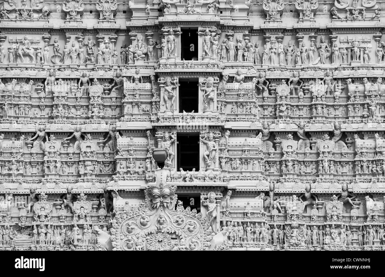 Temple sculpture and architecture - Stock Image