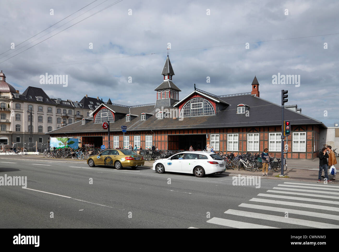 The railway station Østerport Station at Oslo Plads in the north-eastern part of Copenhagen, Denmark. Originally - Stock Image