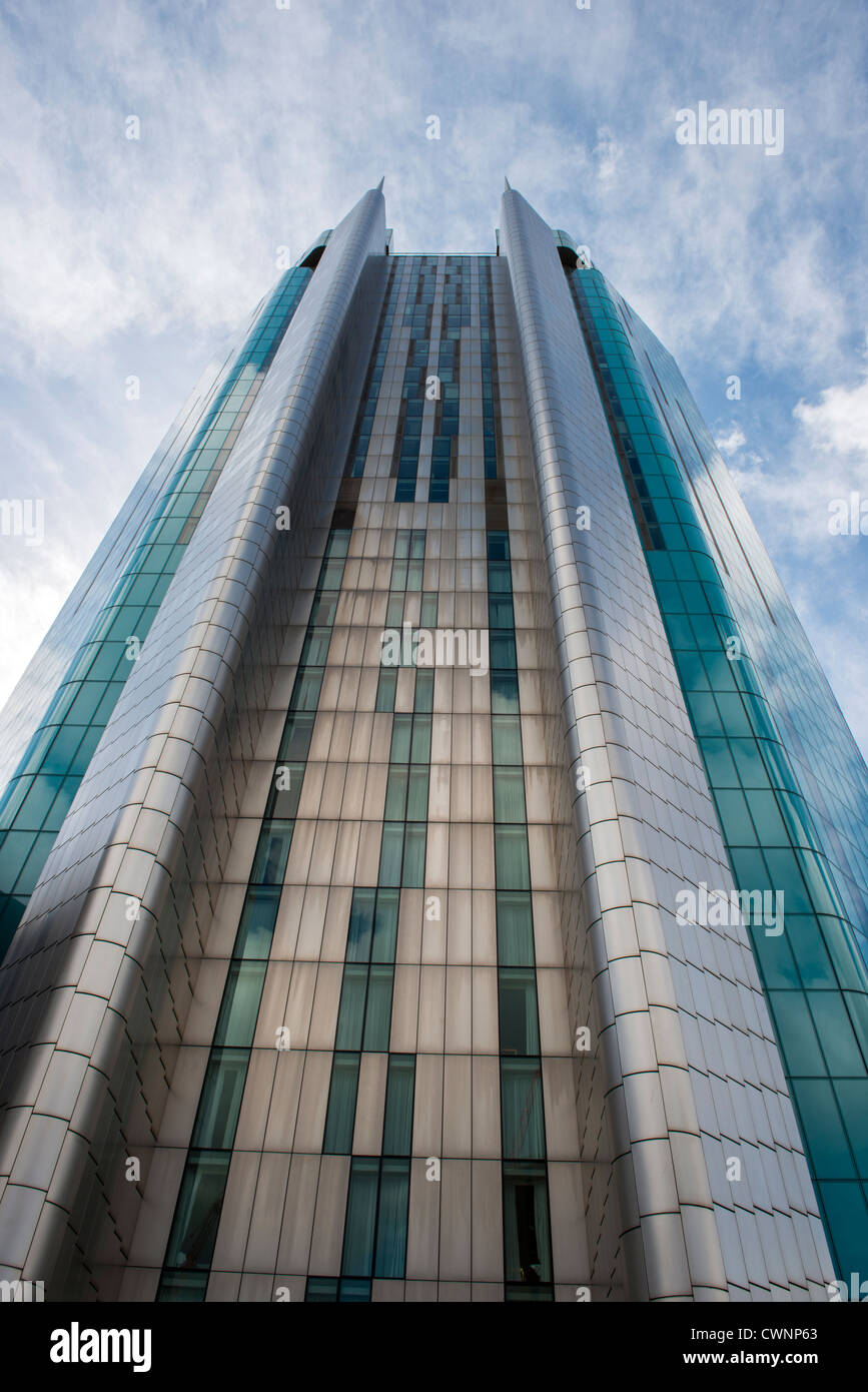 Beetham Tower in Birmingham City Centre England and home of Raddison Blu Hotel this  glass skyscraper is 399 feet - Stock Image