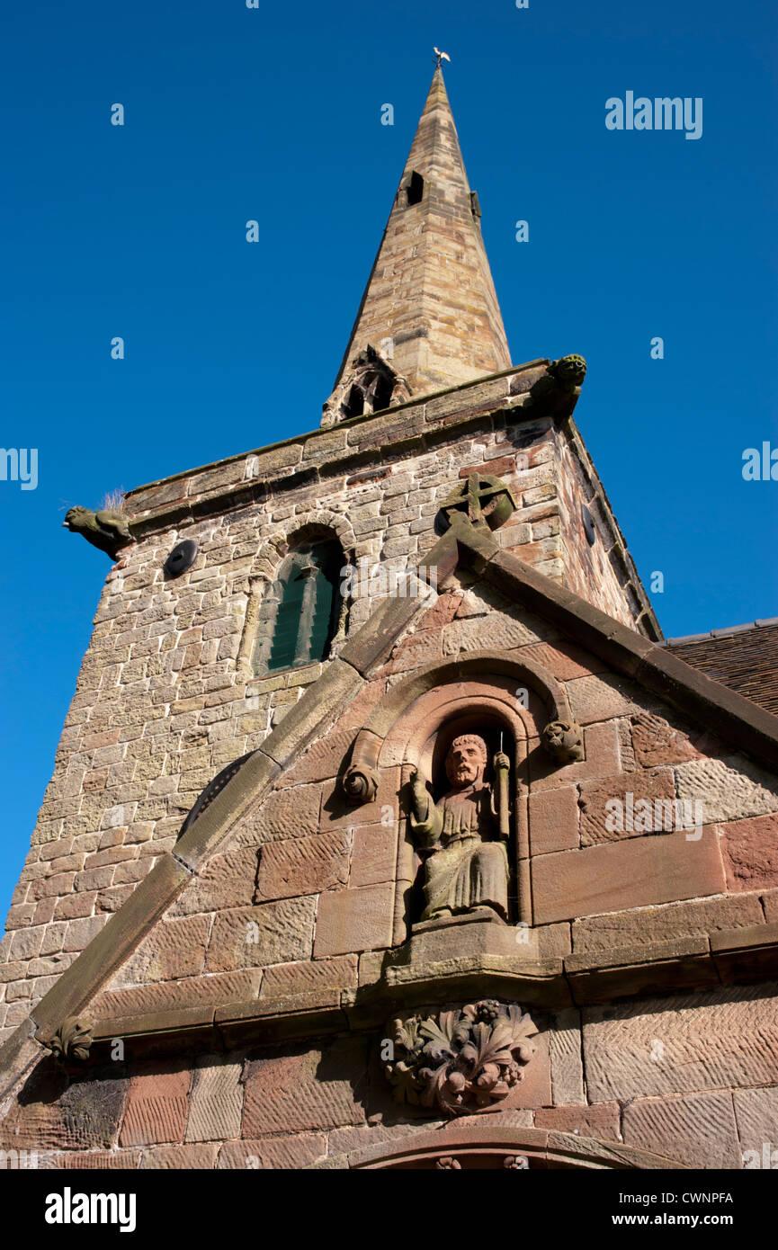 St Editha's church, Church Eaton, Staffordshire - Stock Image