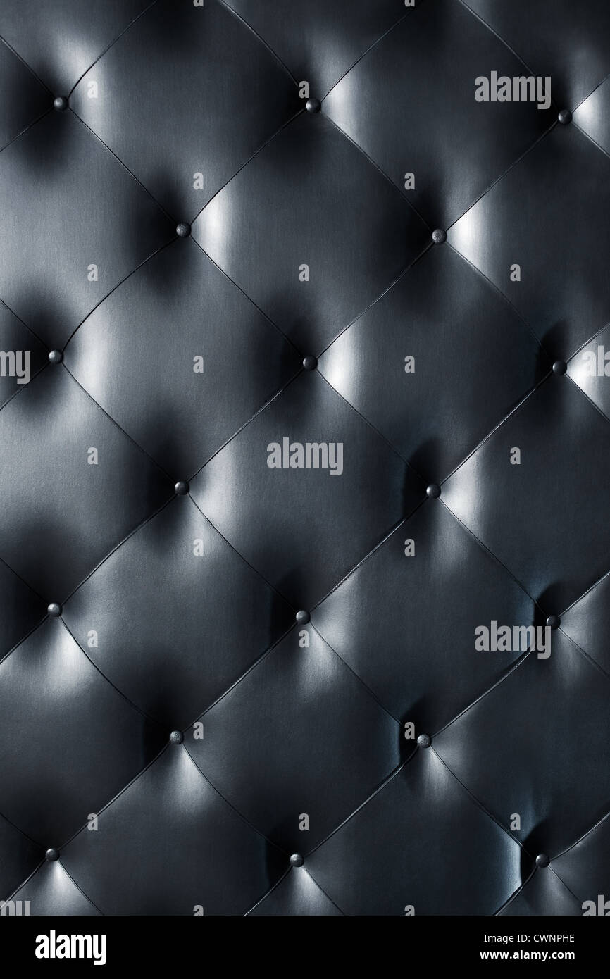 Black leather texture or background. - Stock Image