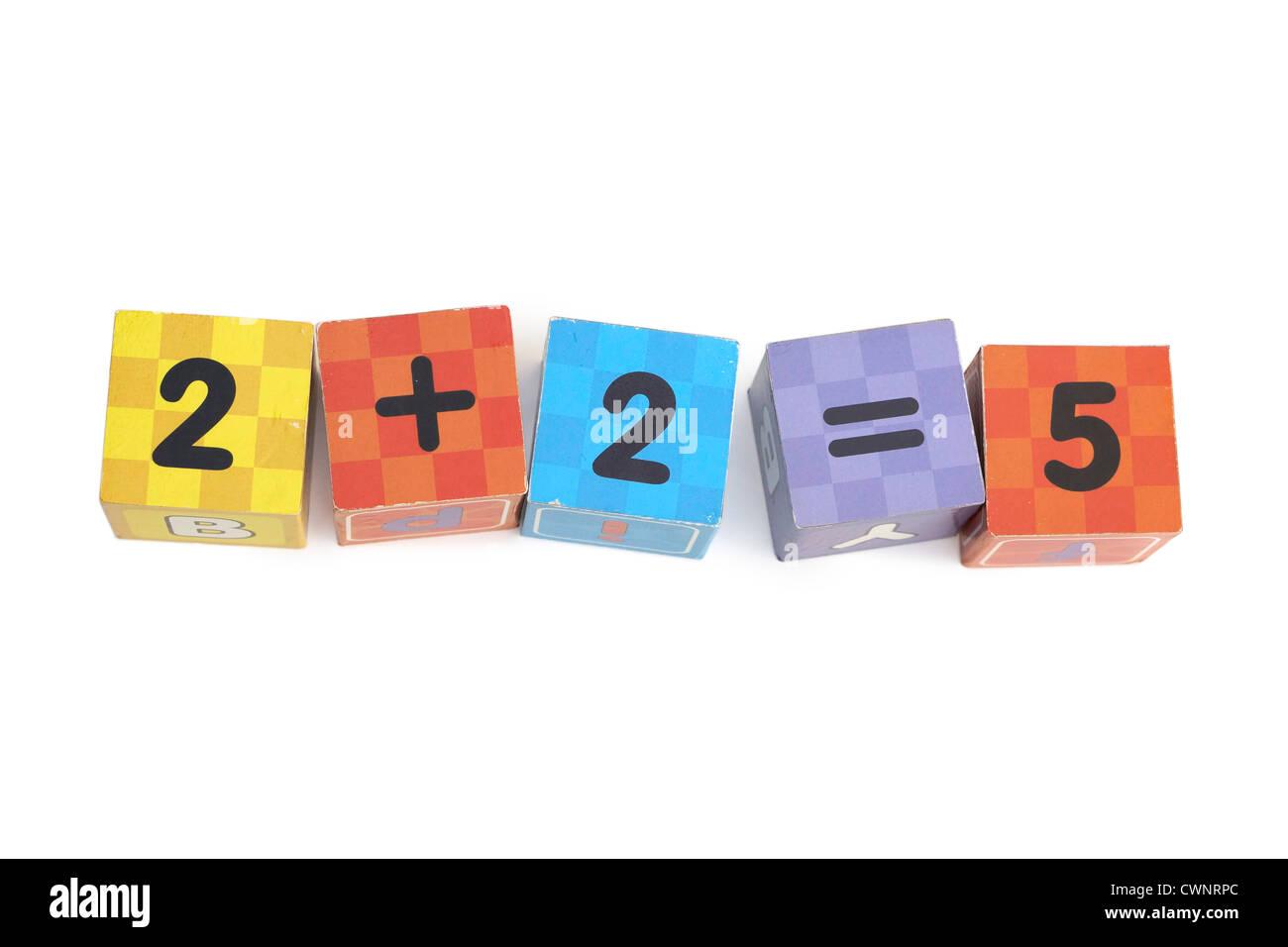 Building Blocks, Numbers - Stock Image
