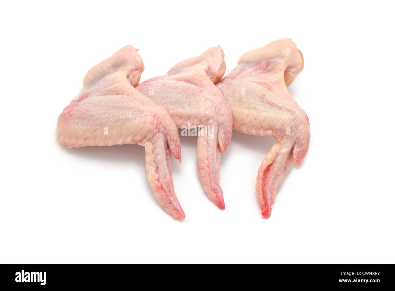 Raw Chicken Wings - Stock Image