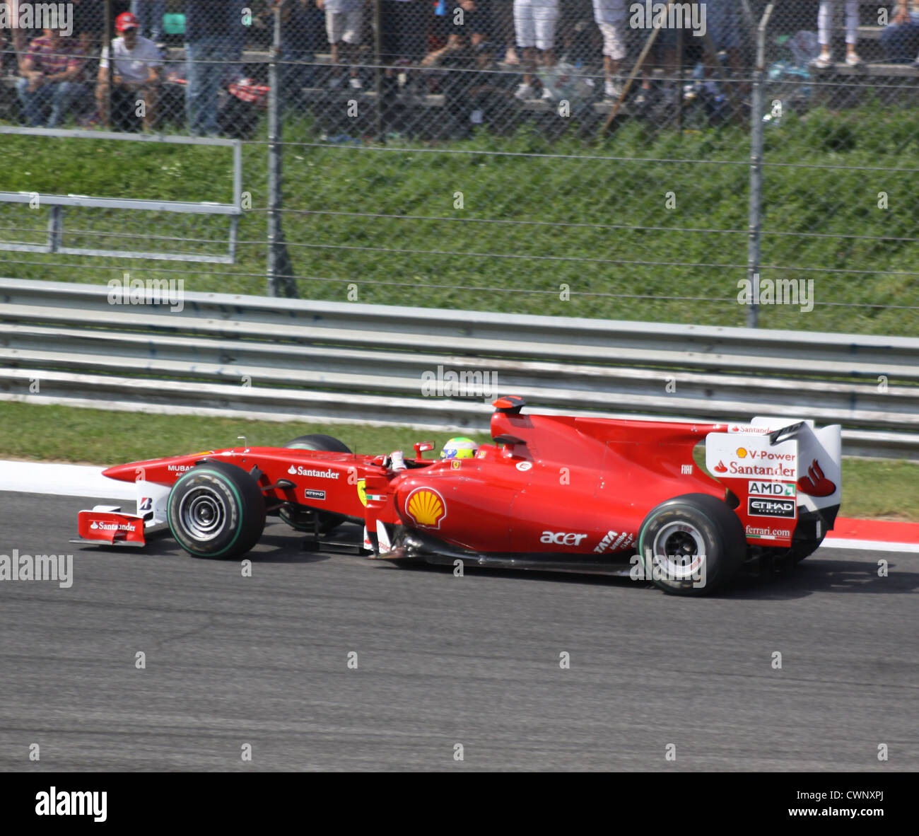 Italy. Milan. Racing 'Formula 1'. Ferrari team car - Stock Image