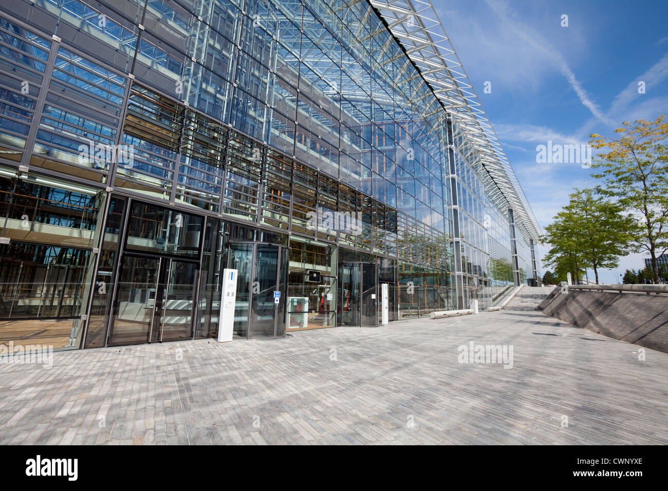 European Investment Bank, EIB, Kirchberg Plateau, European district, Luxembourg City, Europe - Stock Image