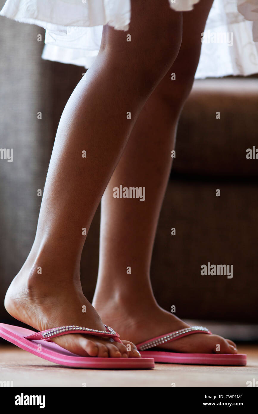 Girl's legs, low section - Stock Image