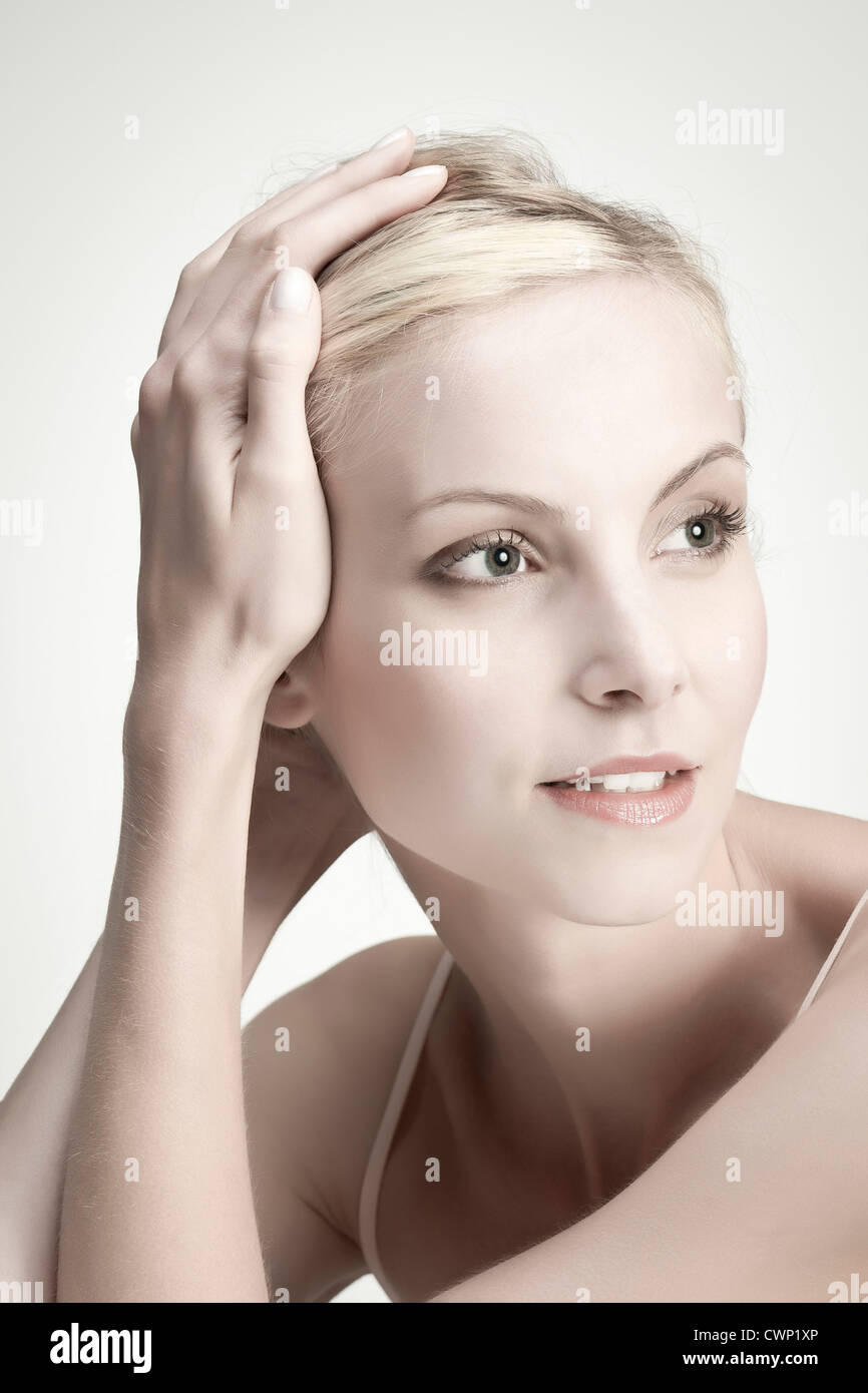 Young woman, portrait Stock Photo