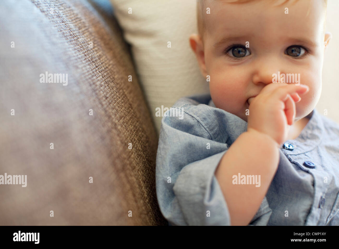 Baby boy, portrait - Stock Image