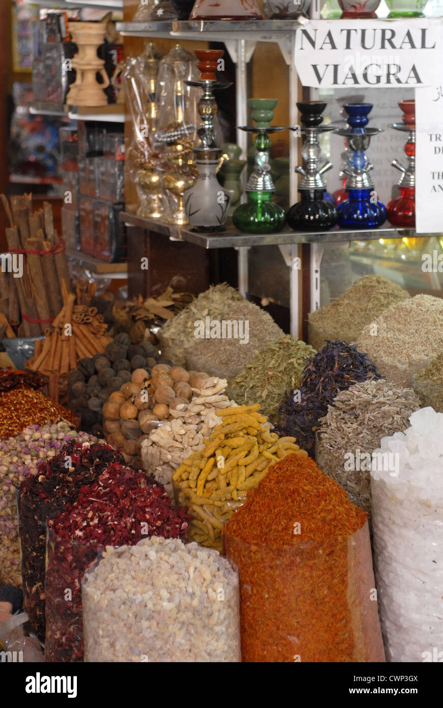 Grains and seeds in the souk of Bastakiya district, Dubai