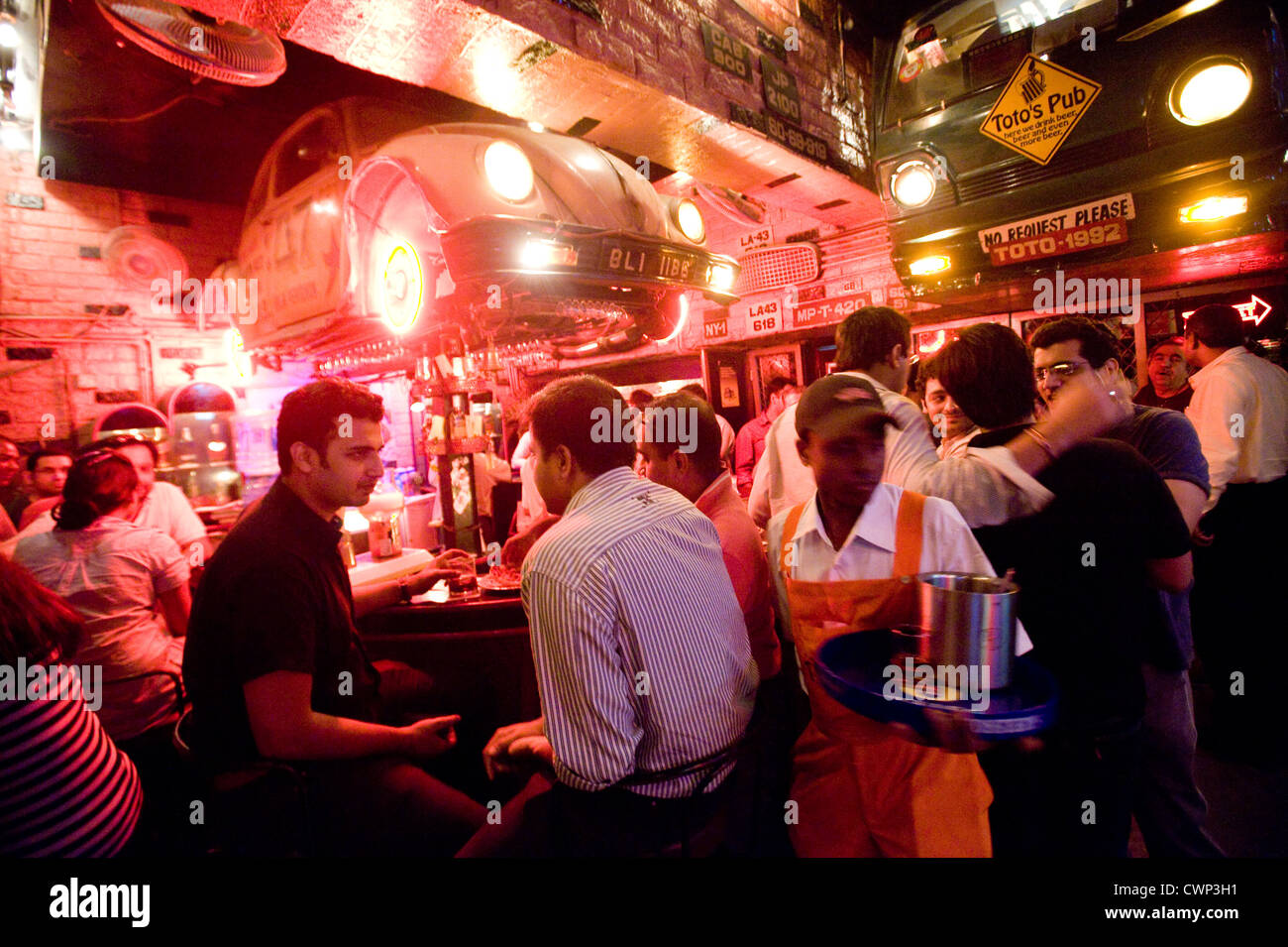 Toto\'s Pub Bar and Garage, Bandra , Mumbai India Stock Photo ...