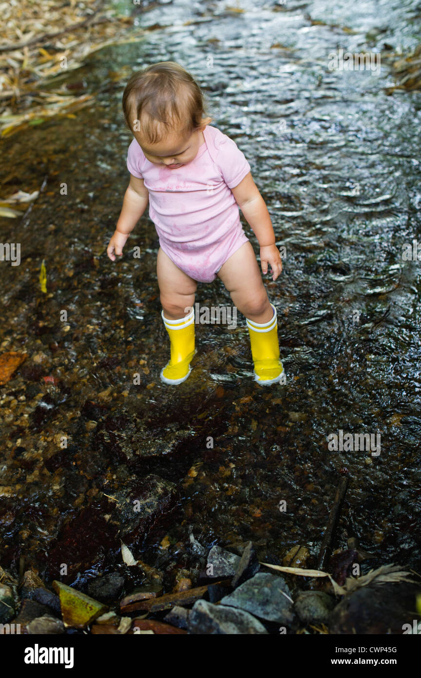 girls in rubber waders