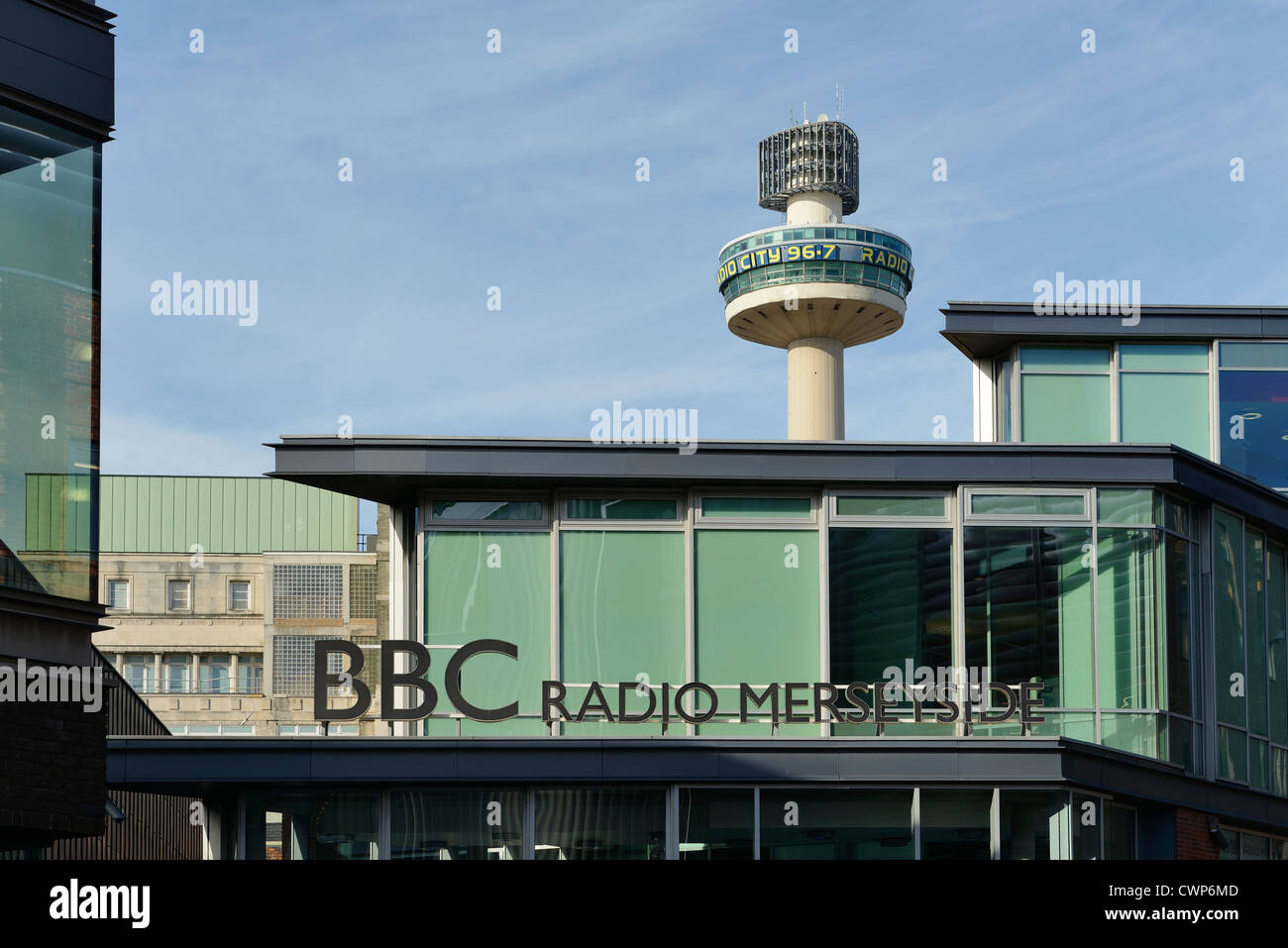 BBC Radio Merseyside and St Johns Beacon Liverpool - Stock Image