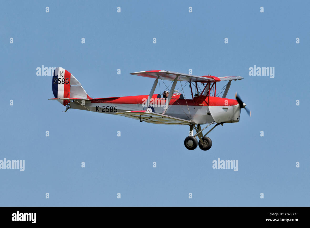 The classic De Havilland DH82 Tiger Moth vintage biplane - Stock Image