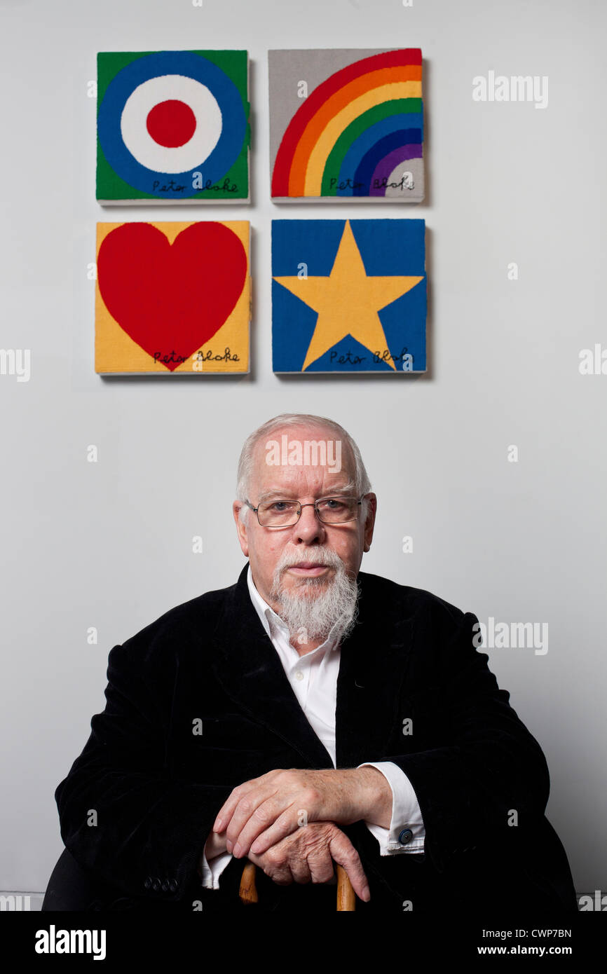Sir Peter Blake, artist, known affectionately as The Godfather of British Pop Art. Celebrated for the Beatles Sgt. - Stock Image