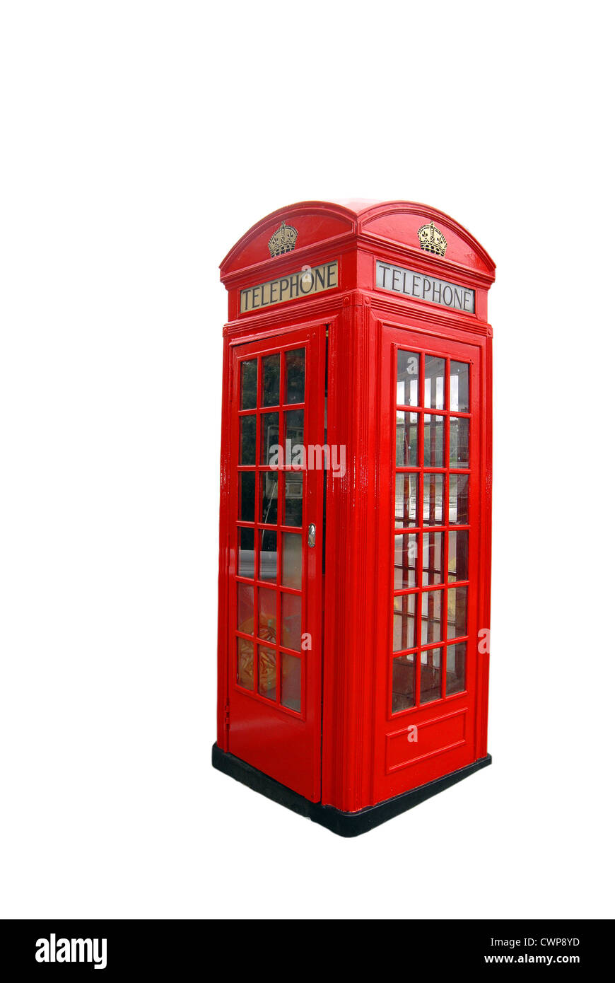 Isolated London  Red Booth Cabin - Stock Image