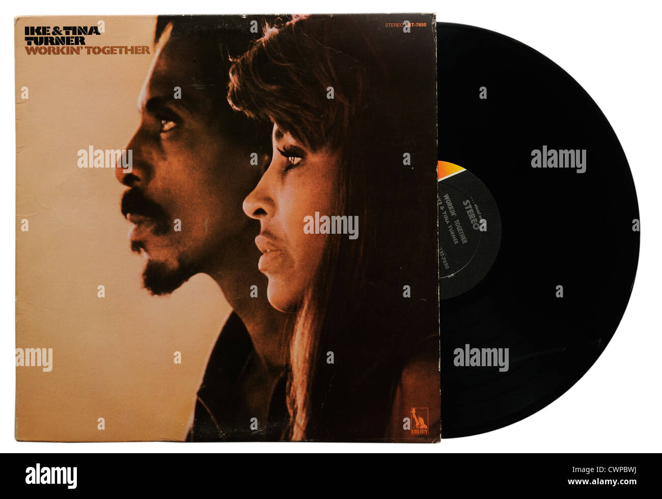 Ike and Tina Turner Working Together album - Stock Image