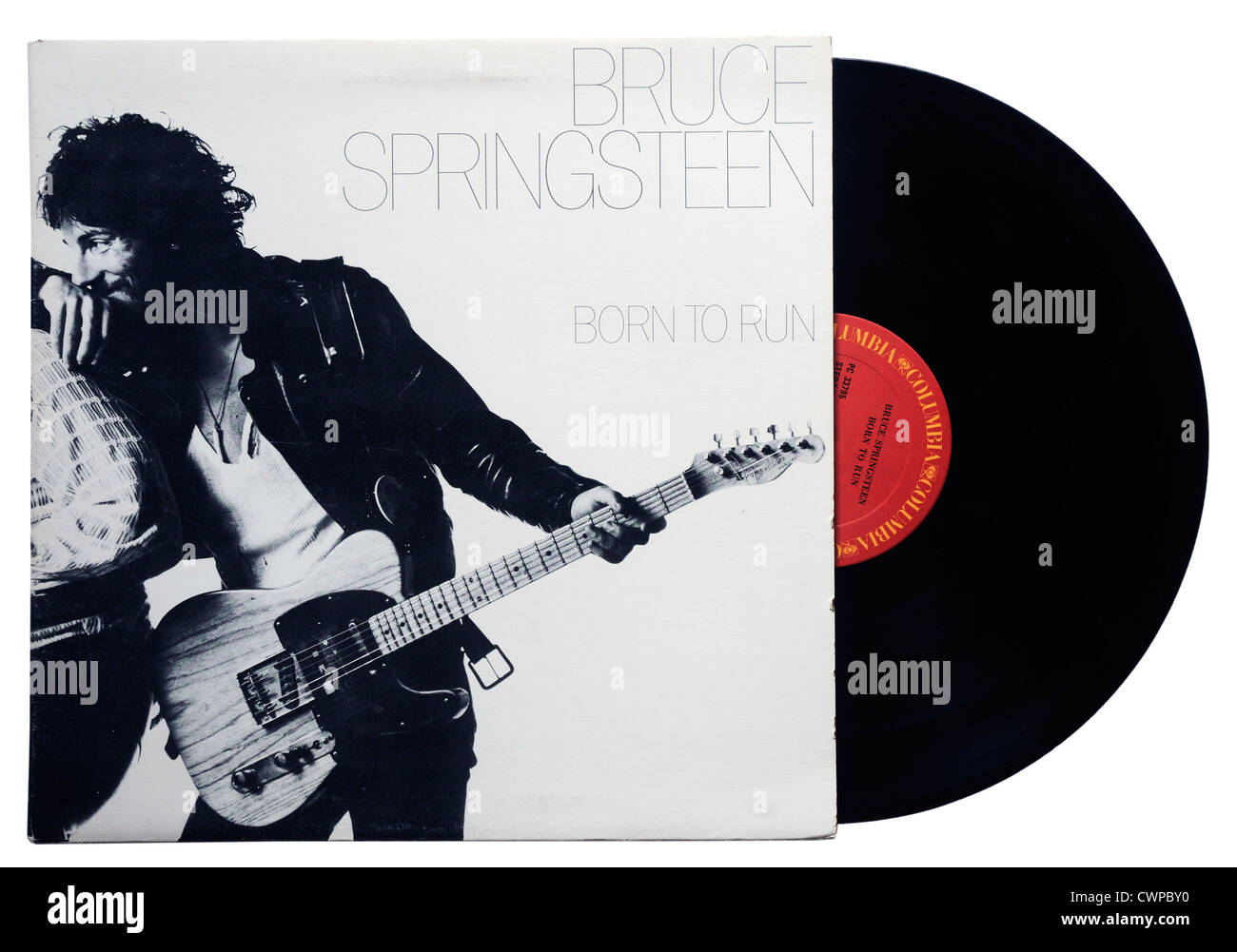 Bruce Springsteen Born to Run album - Stock Image