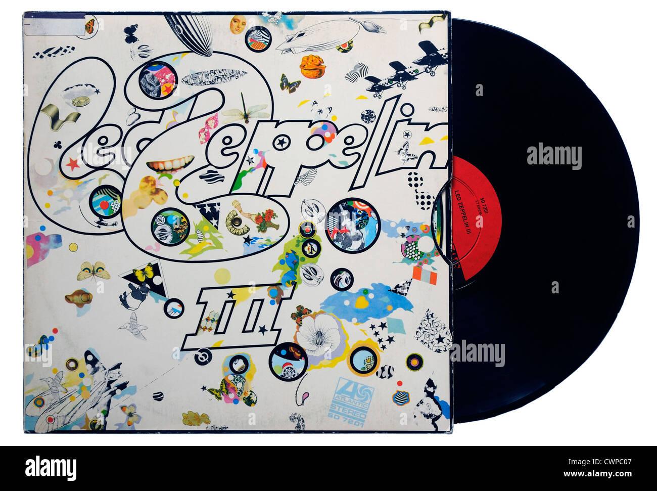 Led Zeppelin III album - Stock Image