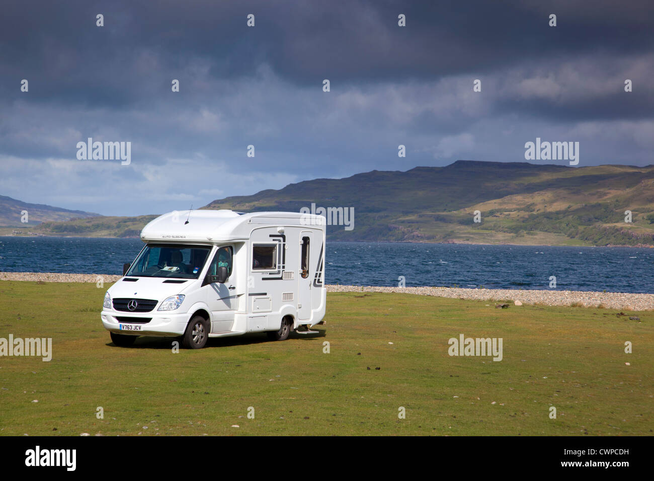 Parked at Scarisdale Point; Mull; Scotland; UK - Stock Image