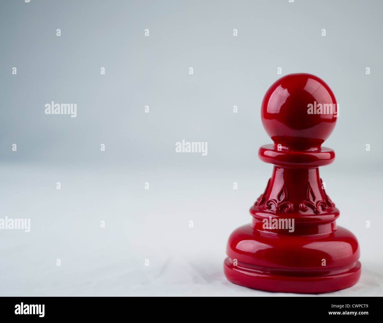 Pawn in Chess solitary game - Stock Image