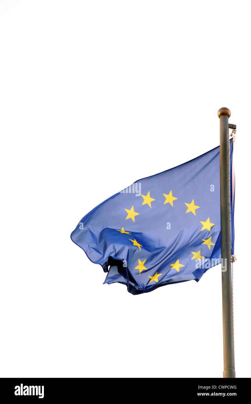 flag European Community  EC,   European Economic Community CEE - Stock Image