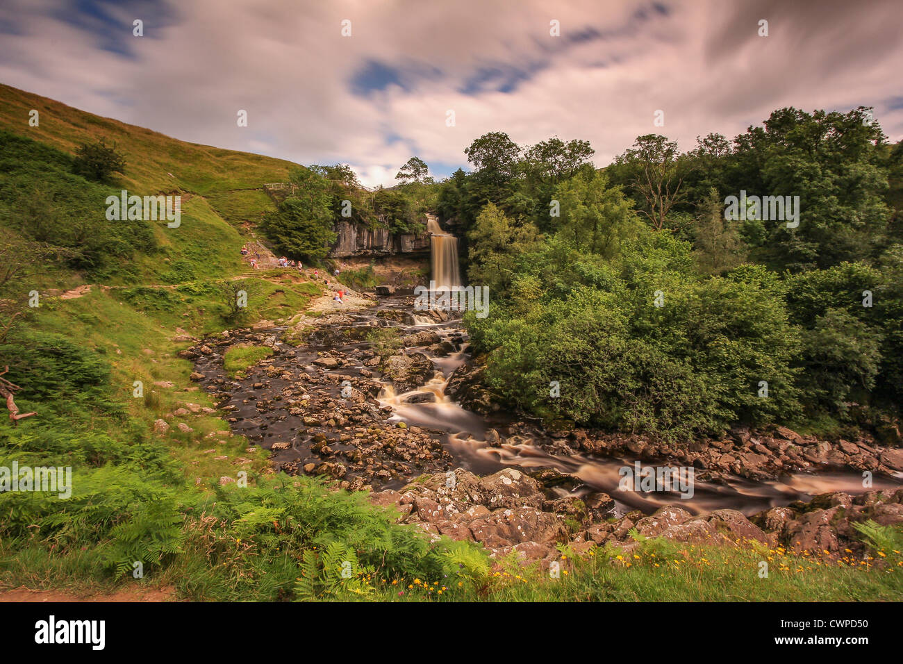 Thornton Force, one of the waterfalls on the Ingleton waterfalls trail. - Stock Image
