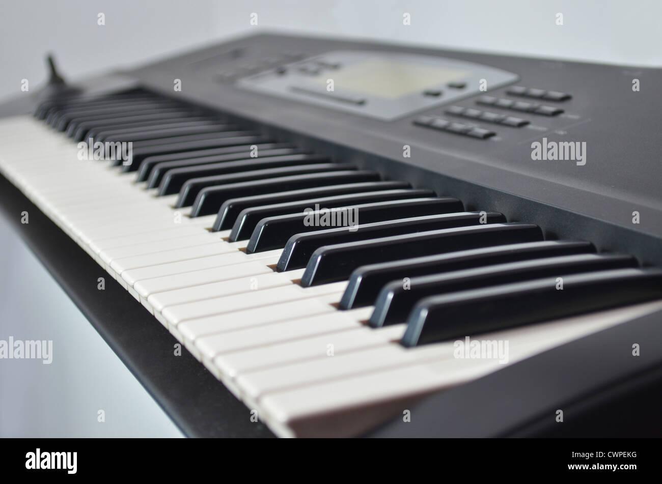 Electronic synthesizer keyboard. Musical instrument - Stock Image
