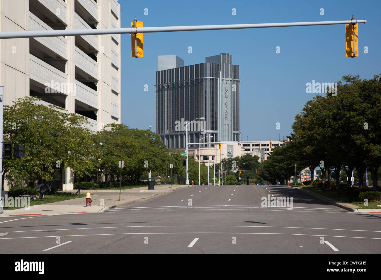 Detroit, Michigan - The MGM Grand Casino and Hotel. - Stock Image