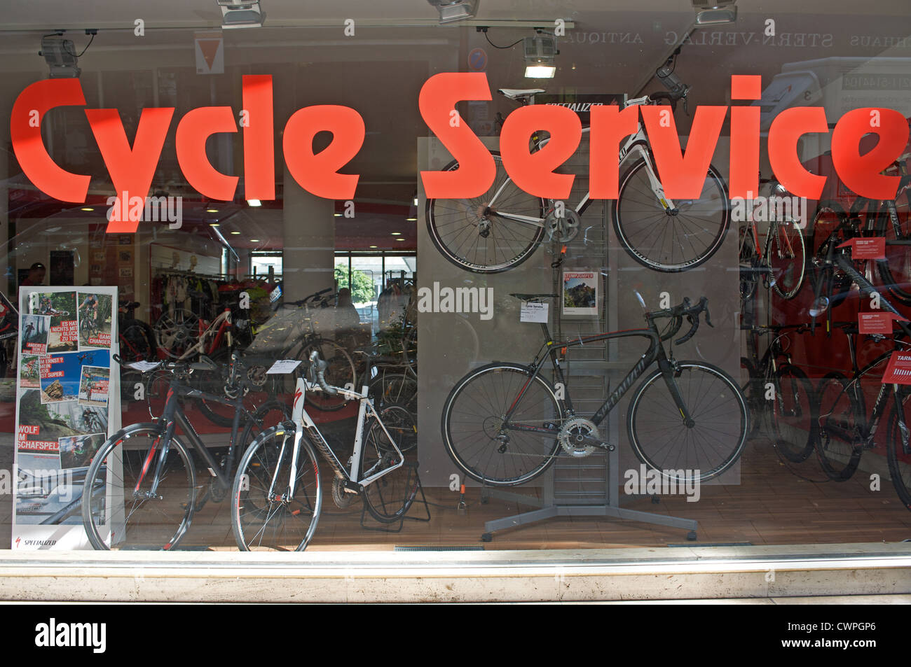 Bicycle shop - Stock Image
