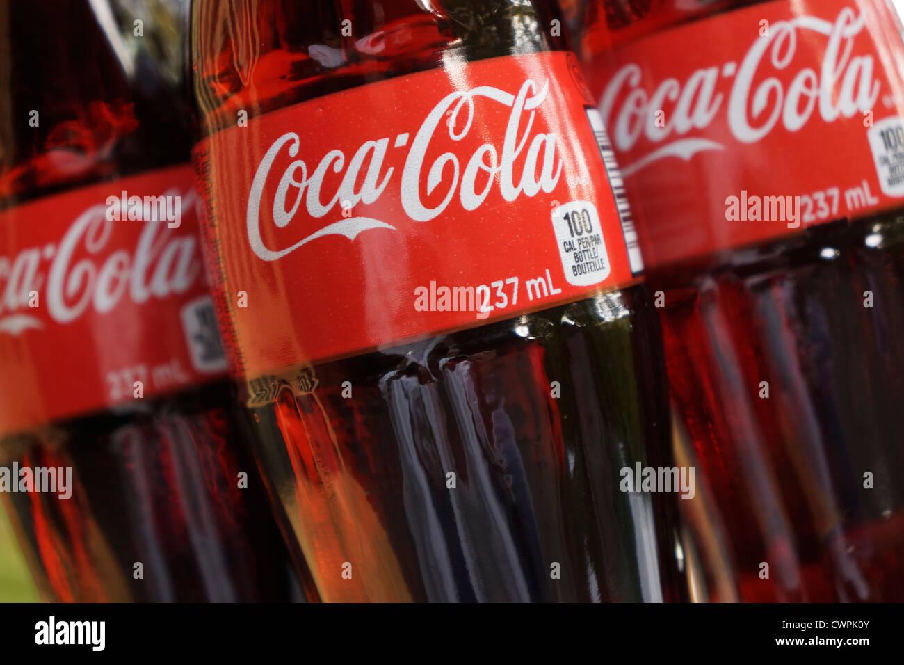 Coca Cola Bottles - Stock Image