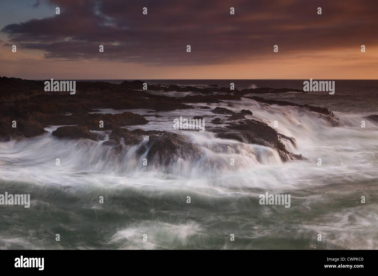 Cooks Chasm, Cape Perpetua, Oregon Coast, USA - Stock Image