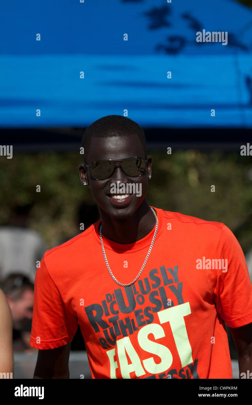 American 800m runner and NCAA champion Charles Jock poses for a picture in August 2012 - Stock Image