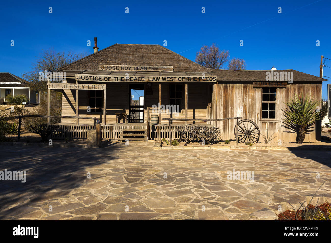 old western saloon building where judge roy bean justice of the peace stock photo 50286245 alamy. Black Bedroom Furniture Sets. Home Design Ideas