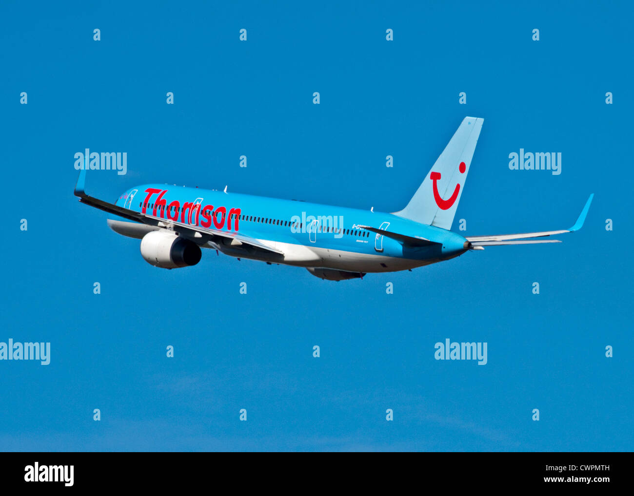 Thomson Boeing 757 Aircraft, Gatwick Airport, Sussex, England - Stock Image