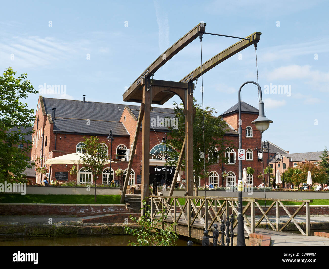 The Wharf restaurant in Castlefield Manchester UK - Stock Image