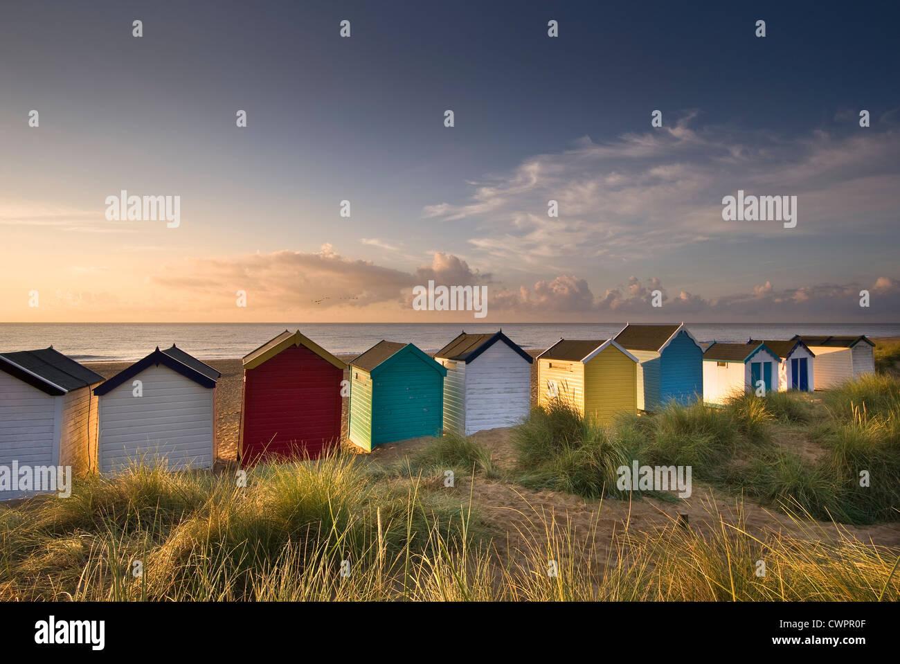 Southwold beach huts, Suffolk - Stock Image
