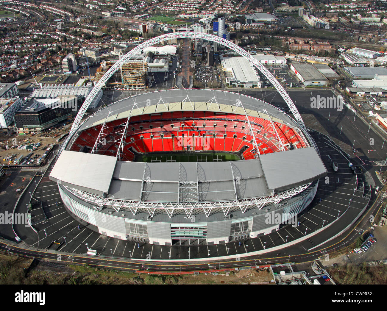 aerial view of wembley stadium london stock photo. Black Bedroom Furniture Sets. Home Design Ideas