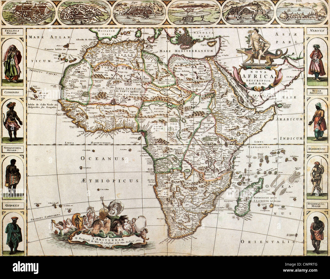 Africa old map Stock Photo: 50288800 - Alamy