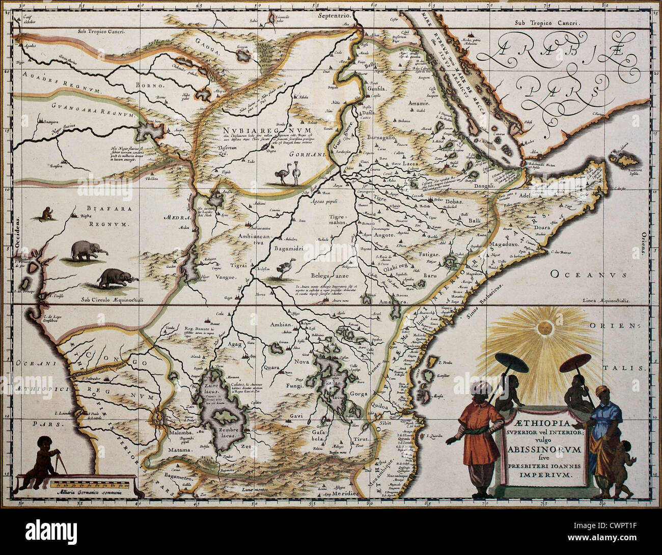 Old Map Of Ethiopia Stock Photos & Old Map Of Ethiopia Stock Images