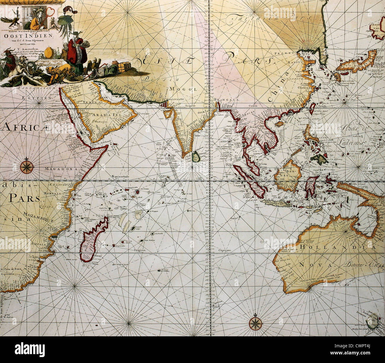Indian Ocean Old Map
