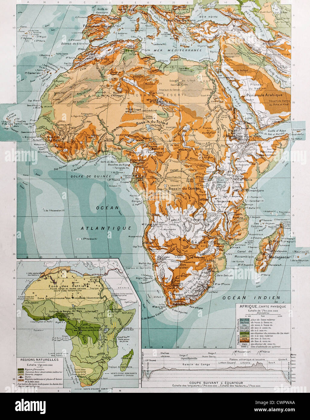 Africa Physical Map Stock Photo Alamy