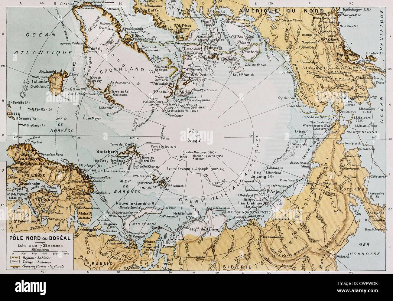 Map Arctic Circle Arctic Circle Map Stock Photos & Arctic Circle Map Stock Images