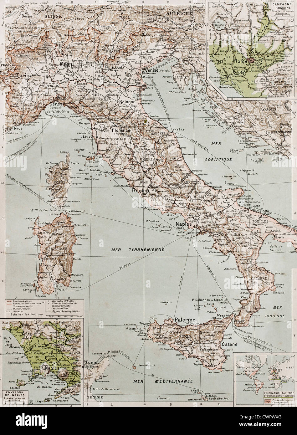 Italy at the end of 19th century - Stock Image