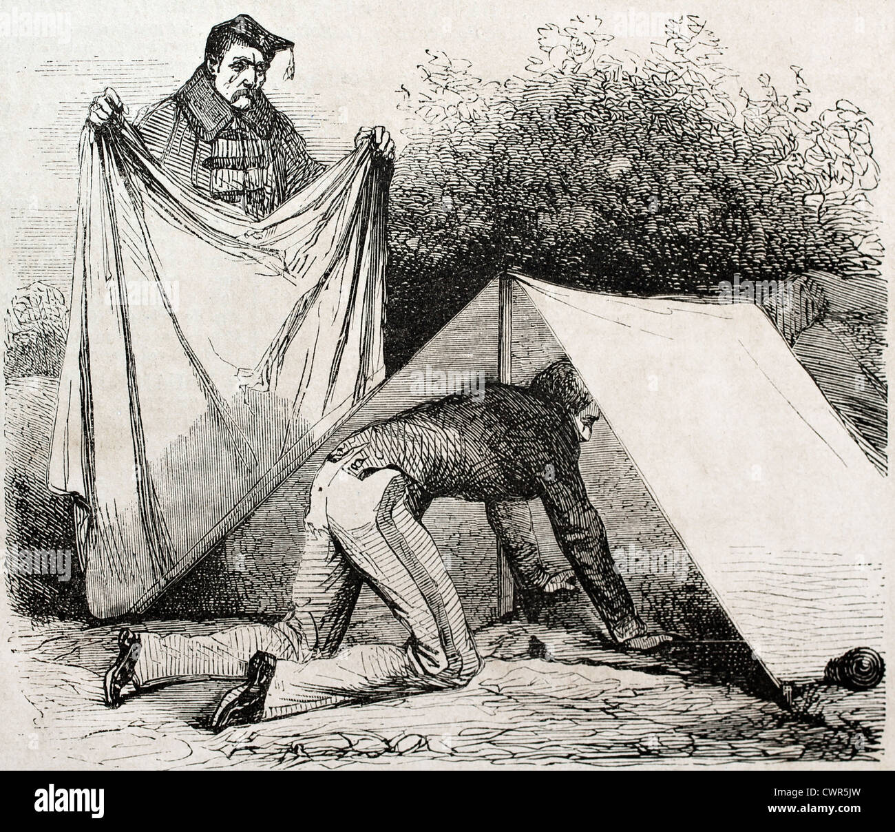 Shelter tent in Camp Chalons - Stock Image