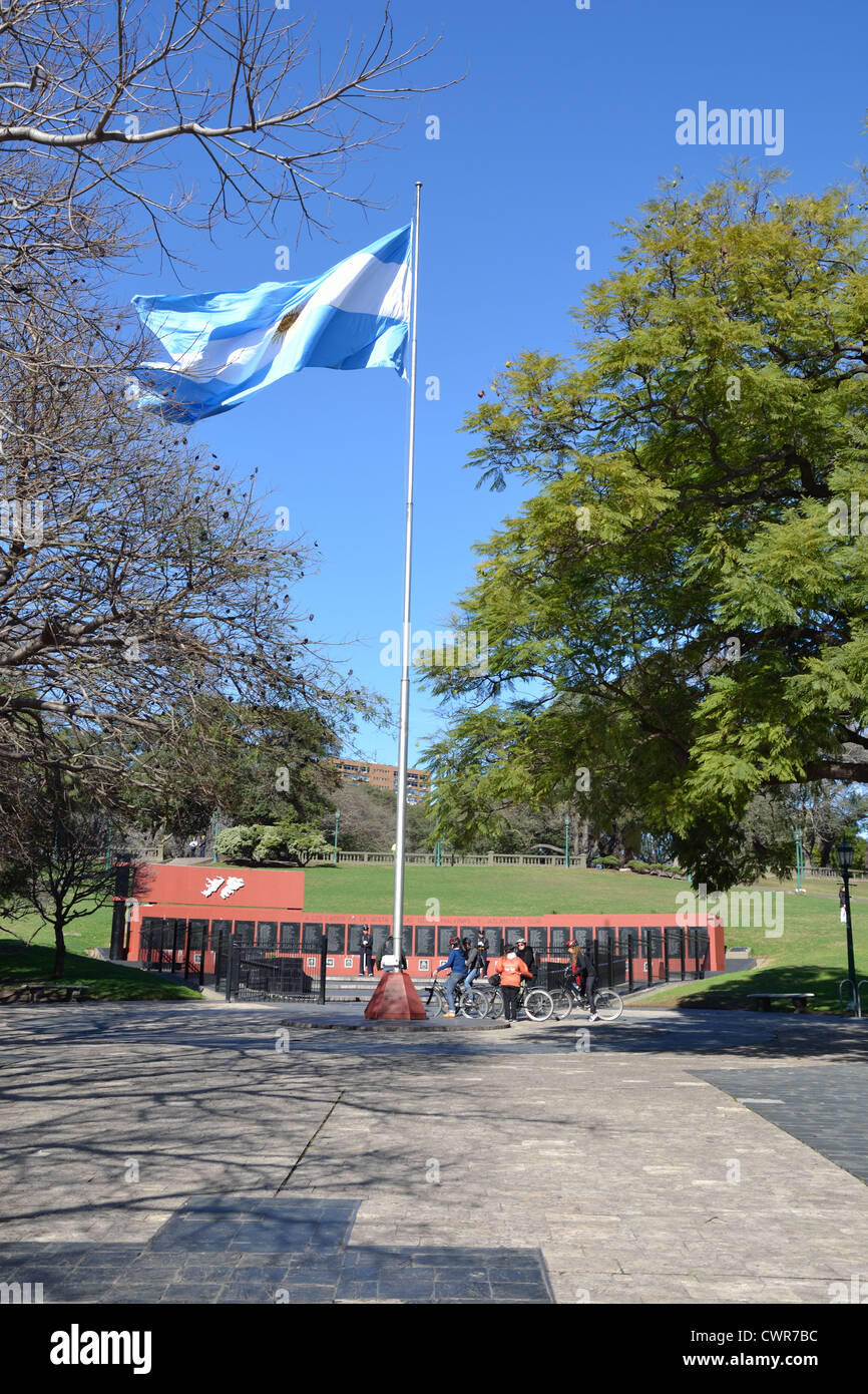 The monument of Los Caidos for the dead in the Falklands war, Plaza San Martin, Buenos Aires, Argentina. - Stock Image