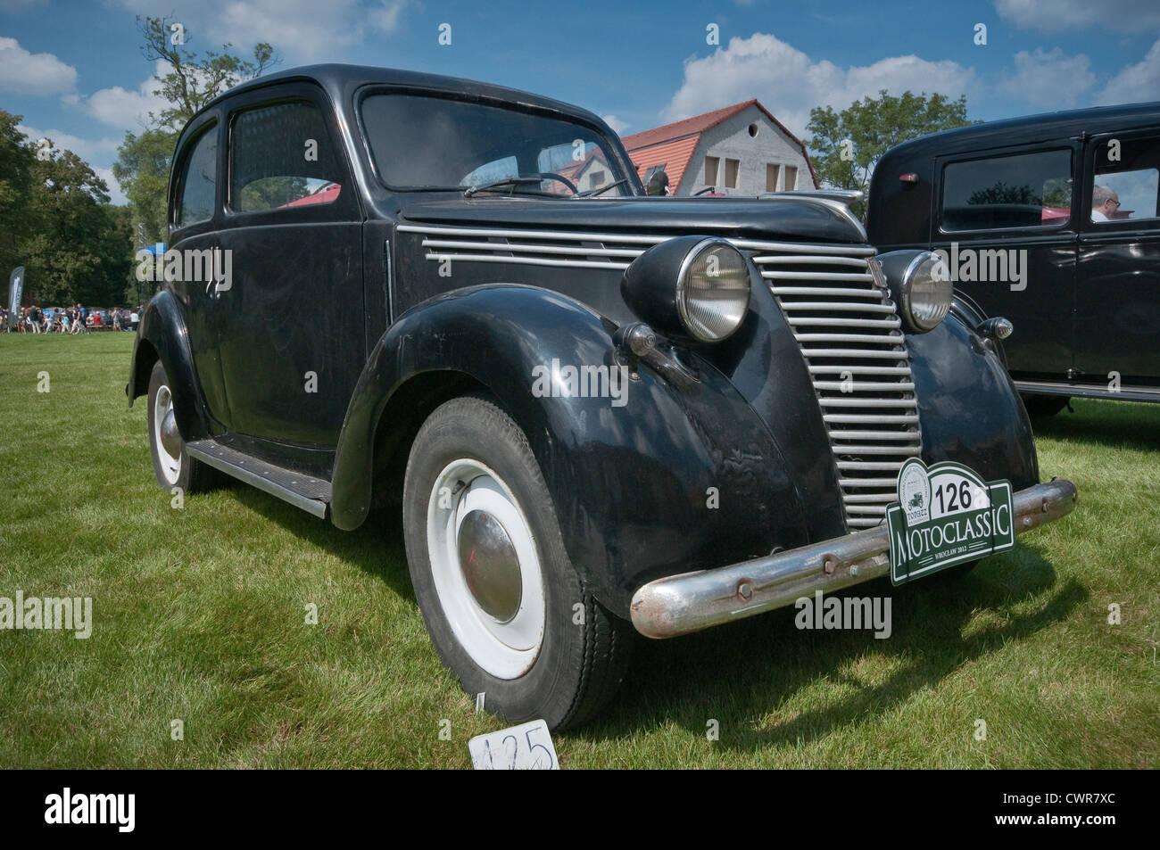 1939 Fiat 1100B at Motoclassic car show at Topacz Castle in Kobierzyce near Wroclaw, Lower Silesia, Poland - Stock Image