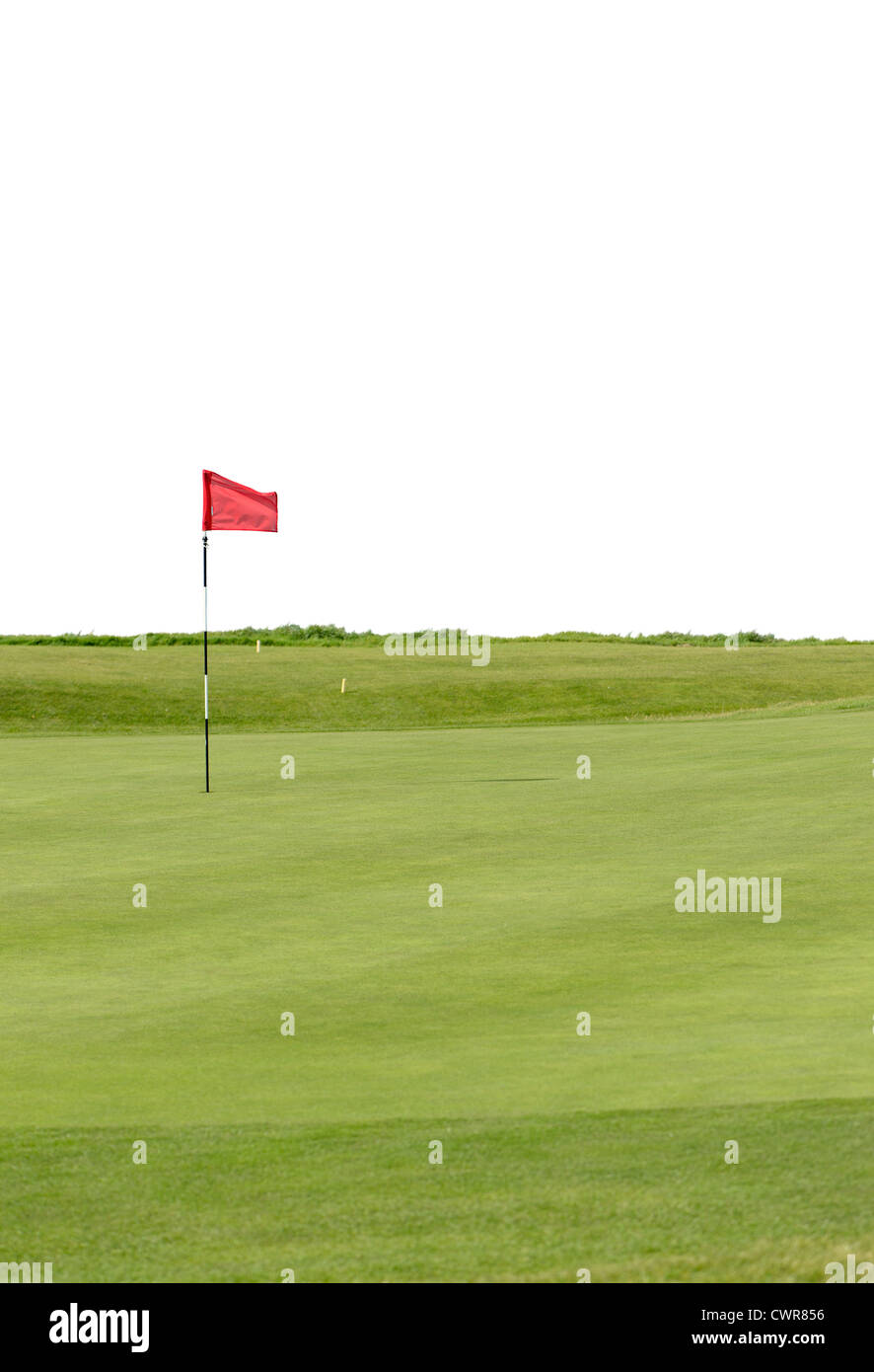 golf green on a links course - Stock Image